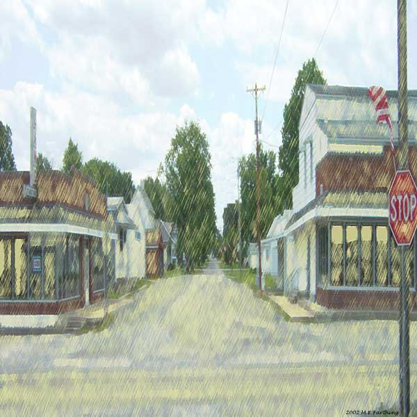 Village of Bonnie's Main  Street, Click on the picture to enlarge.